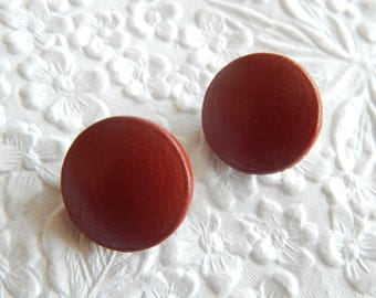 Rust leather upholstery coat tufting buttons, 3/4 inches, price per button
