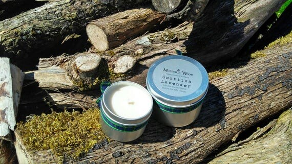 Scottish Lavender Handmade Natural Soy Wax Tin Candle