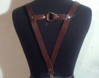 Wedding suspenders, leather suspenders, mens suspenders, womens suspenders, handmade suspenders, black suspenders, groomsmen suspenders