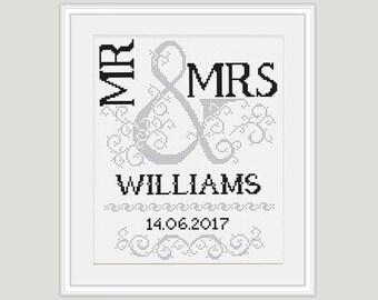 Bridal Cross Stitch Pattern - Scheme for cross stitch - Wedding Gift - Wedding Cross stitch - Embroidery- PDF - INSTANT DOWNLOAD