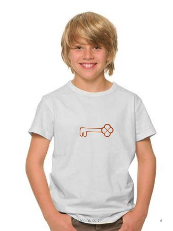 Boy t-shirt KEY in copper