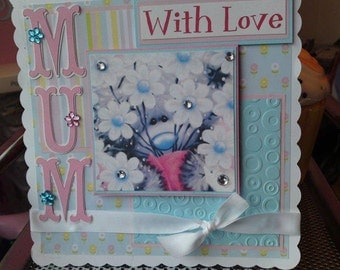 Mother's Day Card Me To You Bear, Card for her, Card for Mum, Nanny, Grandma, Step Mum, Mother, Mom, Cute ladies birthday card,