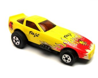 1980s Vintage Roadchamps Fire Cat Funny Car Toy Collectible