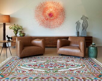 Günstige teppiche  Modern & Colorful Hand-knotted embroidery Wool Rugs von Carpetism