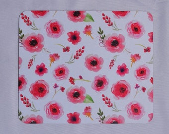 Floral Mouse Pad, Pink Mouse Pad, Desk Accessories, Gift Under 20, Gift for Her, Coworker Gift, Gift for Boss