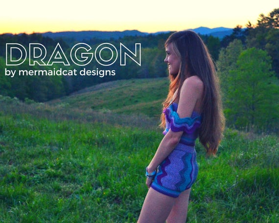 crochet romper, crop top, and shorts 3-for-1 pattern -Dragon