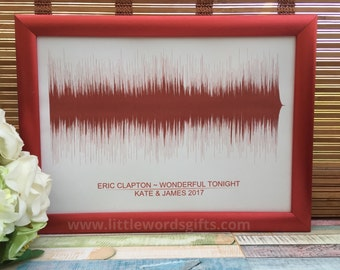 PERSONALISED Your Song Soundwave Print | Best Friend, Wedding, Anniversary Gift | Wedding Vows | Available Worldwide | Personalized