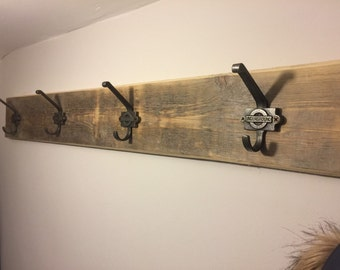 Coat hooks, Industrial decor hanger. Can be made to your requirements.