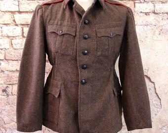 Soviet Bulgarian army coat winter wool USSR military surplus S to XXL