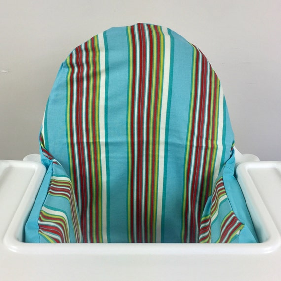 Striped Ikea Antilop Highchair High Chair Cushion Cover With