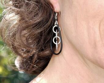 Modern Jewelry Women - Hardware Jewelry - Urban Earrings - Modernist Earrings - Industrial Jewelry - Cool Swag Jewelry - Dangle Earrings