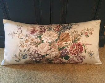 Vintage Cream Floral Sanderson Fabric Cushion