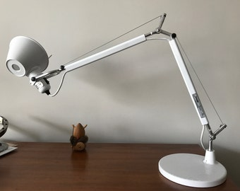 Artemide Tolomeo Mini Desk Lamp  Classic White