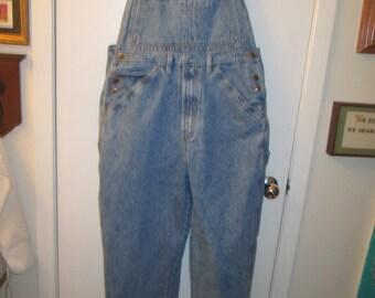 Vintage Jordache blue denim bib overalls. Carpenter style. Size XL. Excellent vintage condition.