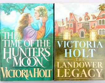 Victoria Holt The Landower Legacy and The Time of the Hunter's Moon Pair of Vintage Hardcover Romance Novels