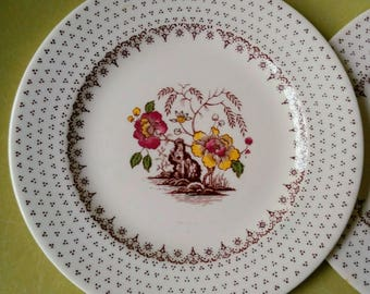 Pair of Royal USA Chippendale Dessert Plates