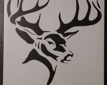 Hunting Buck Head Deer Custom Stencil FAST FREE SHIPPING