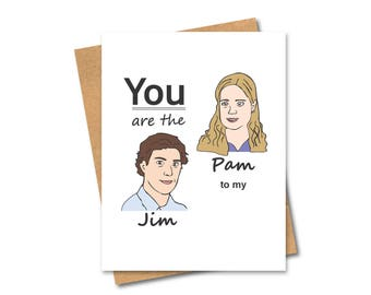Pam and Jim Card - The Office - Jim and Pam - Office Romance