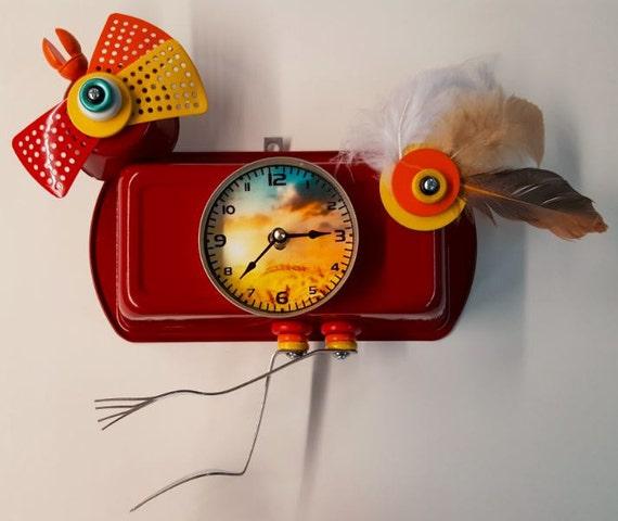 Handmade Rooster Clock