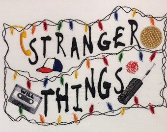 Stranger Things  Machine Embroidery Design 5x7