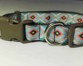 Adjustable Rombos Dog Collar - Brown