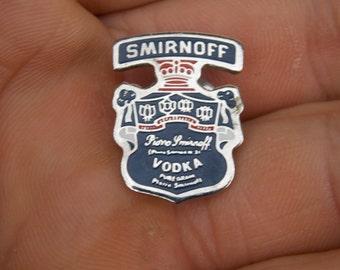 Smirnoff Vodka, I love vodka, vodka brooch, vodka badge, vintage, collector, gift idea, drink gift