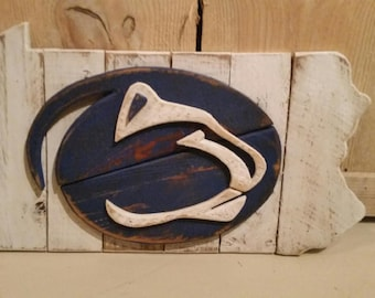 Penn State Lions Wooden Sign