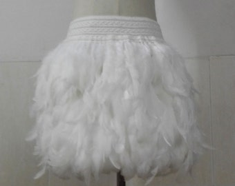 13.78 inches(35cm) rooster coque feather mini skirt with wide elastic waistband #SKT17003