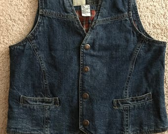 Vintage Wrangler Outwear Denim Vest w/ Snaps sz Large