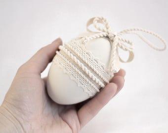 Large Wooden Easter Eggs, Easter Gift, Blue Beige Color, Easter Decorations, Easter Basket Stuffers, Easter Ornaments