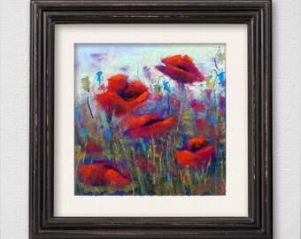 "Original Pastel Painting ""Poppies"""