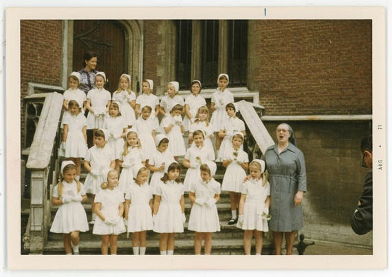Vintage Foto \'Angelic Chor\' lokale Foto Mädchen