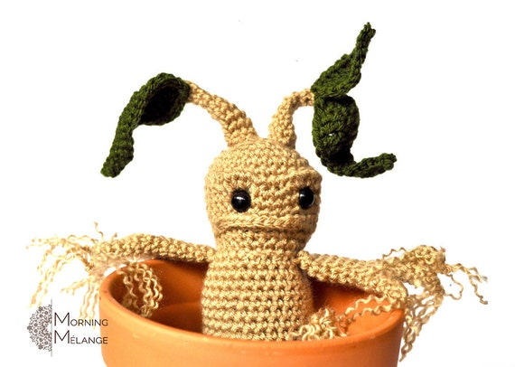 Amigurumi Mandrake : Mandrake Amigurumi Mandrake Crochet Collectible Harry