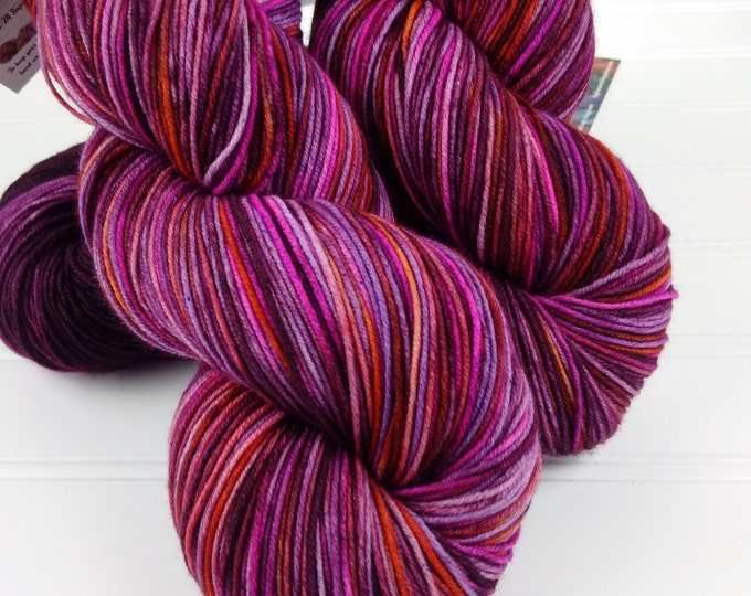 Featured listing image: Merino 8 ply Squishy Sock Yarn, Hand Dyed, Merino, Nylon SW, 430 yards