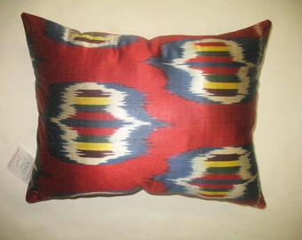 Red Ikat Pillow