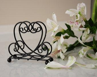"Vertical Handmade Napkin Holder  ""Amore"" metal durable steel wire"