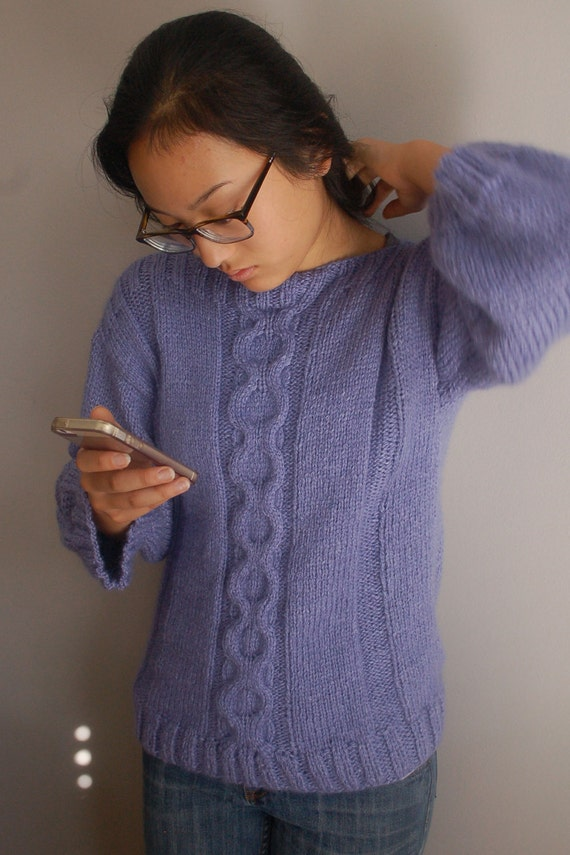 Pullover Sweater Knitting Pattern : Cable Sweater, Knitting Pattern, easy to knit, Pullover Sweater, Fall Sweater...
