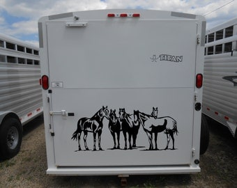Paint Horse Decal Etsy - Decals for trucks customizedhorse decals horse stickersgraphics for horse trailers
