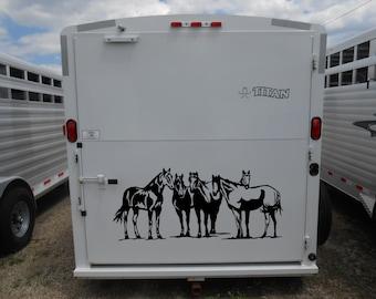 Paint Horse Decal Etsy - Barrel racing custom vinyl decals for trucks