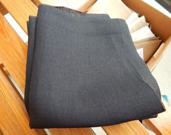 32 ct. Black Belfast Linen (1/8th yard pricing)
