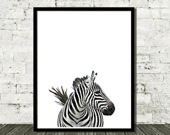 Animal Art, Zebra Print Art, Kids Art Print, Animal Nursery, Nursery Wall Art, Black and White, Nursery Art Print, Kids Print, Nursery Decor