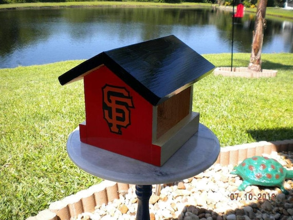 san francisco giants wood bird feeder mlb baseball hand