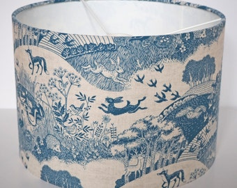Delightful Makower Heartwood scenic woodland fabric drum lampshade - pendant - 30cm