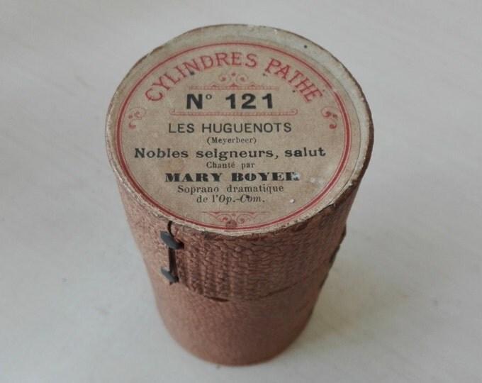 Pathé cilinder, fonograph wax roll
