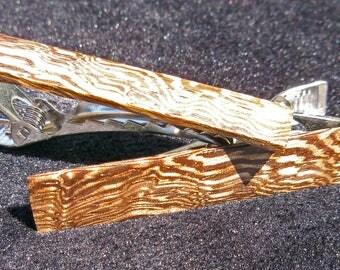 Pheasant Wood Tie Clip