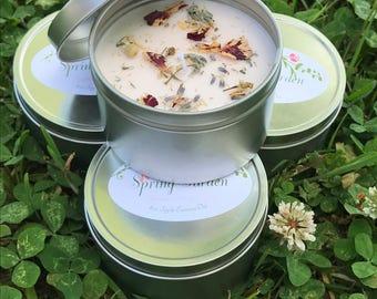 Spring Garden Soy Candle in 8 oz. Tin