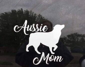 Aussie mom car decal, Australian shepherd car decal, Aussie mom sticker, Australian shepherd sticker