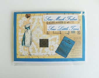 Set of Four Greetings Cards - Vintage Sewing Inspired