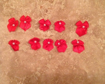 Vintage red bows