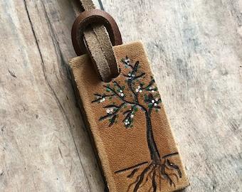 tree tag, tree luggage tag, luggage tag, custom luggage tags, mini luggage tags, mini accent tags